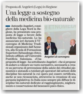 Proposta di legge Regionale sulla regolamentazione della Naturopatia